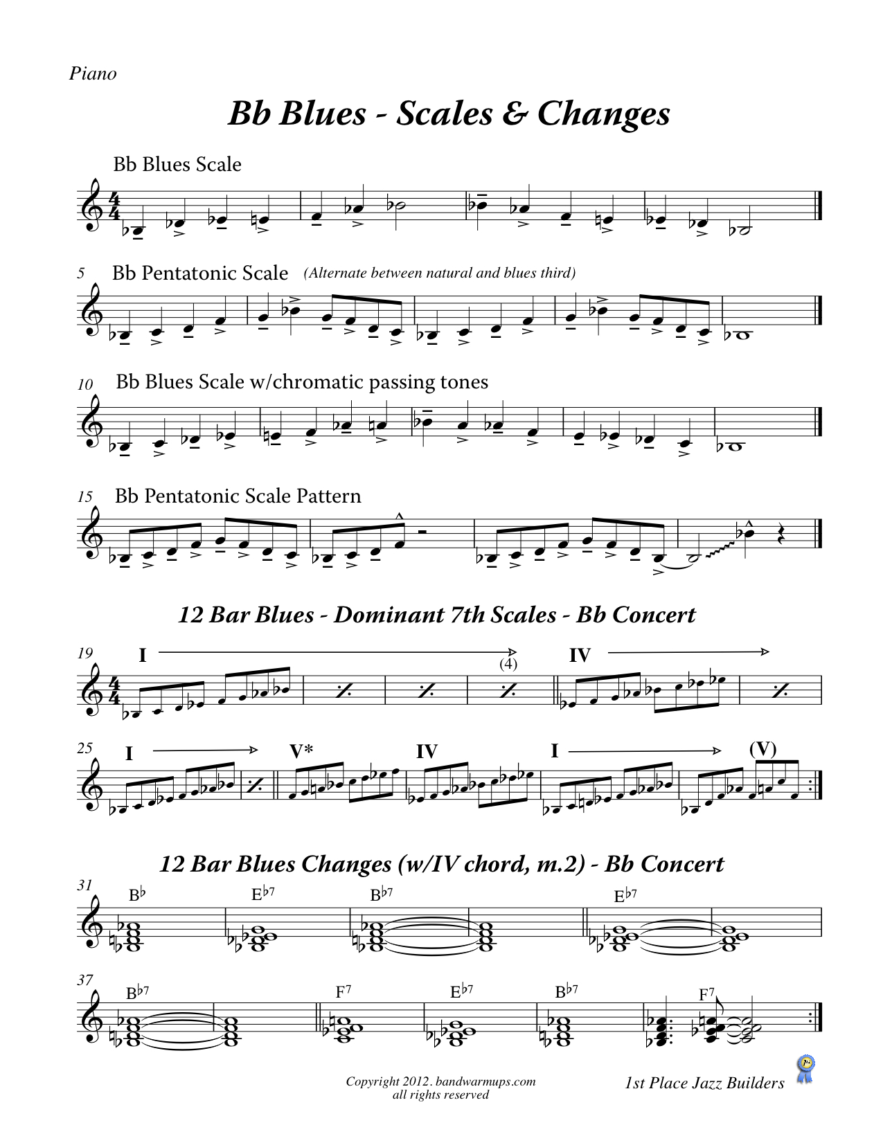 Bb Blues – Scales and Changes | Bolduc Music