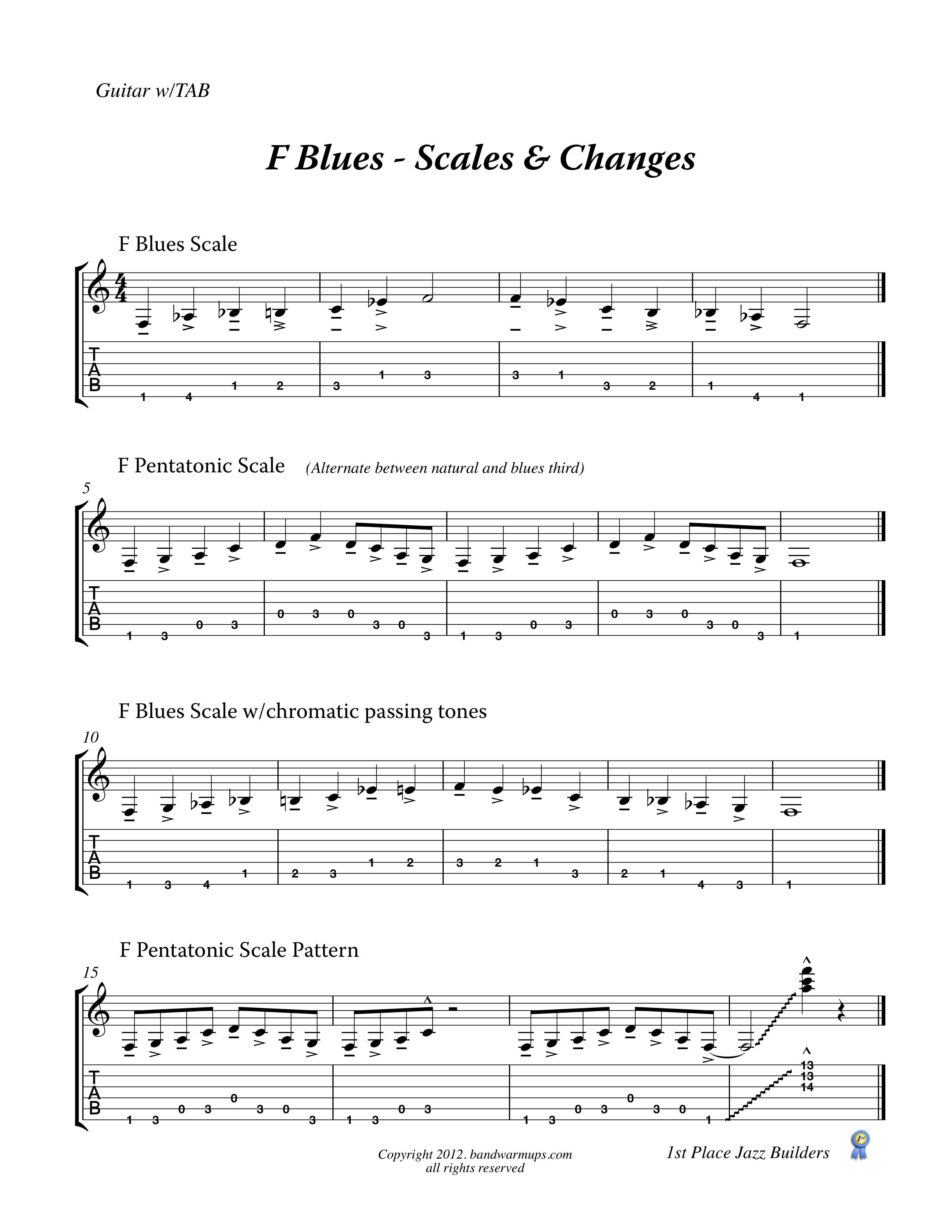 f blues scales and changes bolduc music. Black Bedroom Furniture Sets. Home Design Ideas